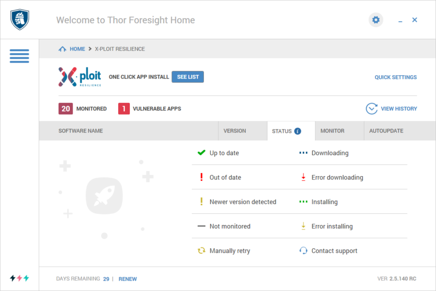 Navigating The User Interface In Thor Home – Heimdal Security