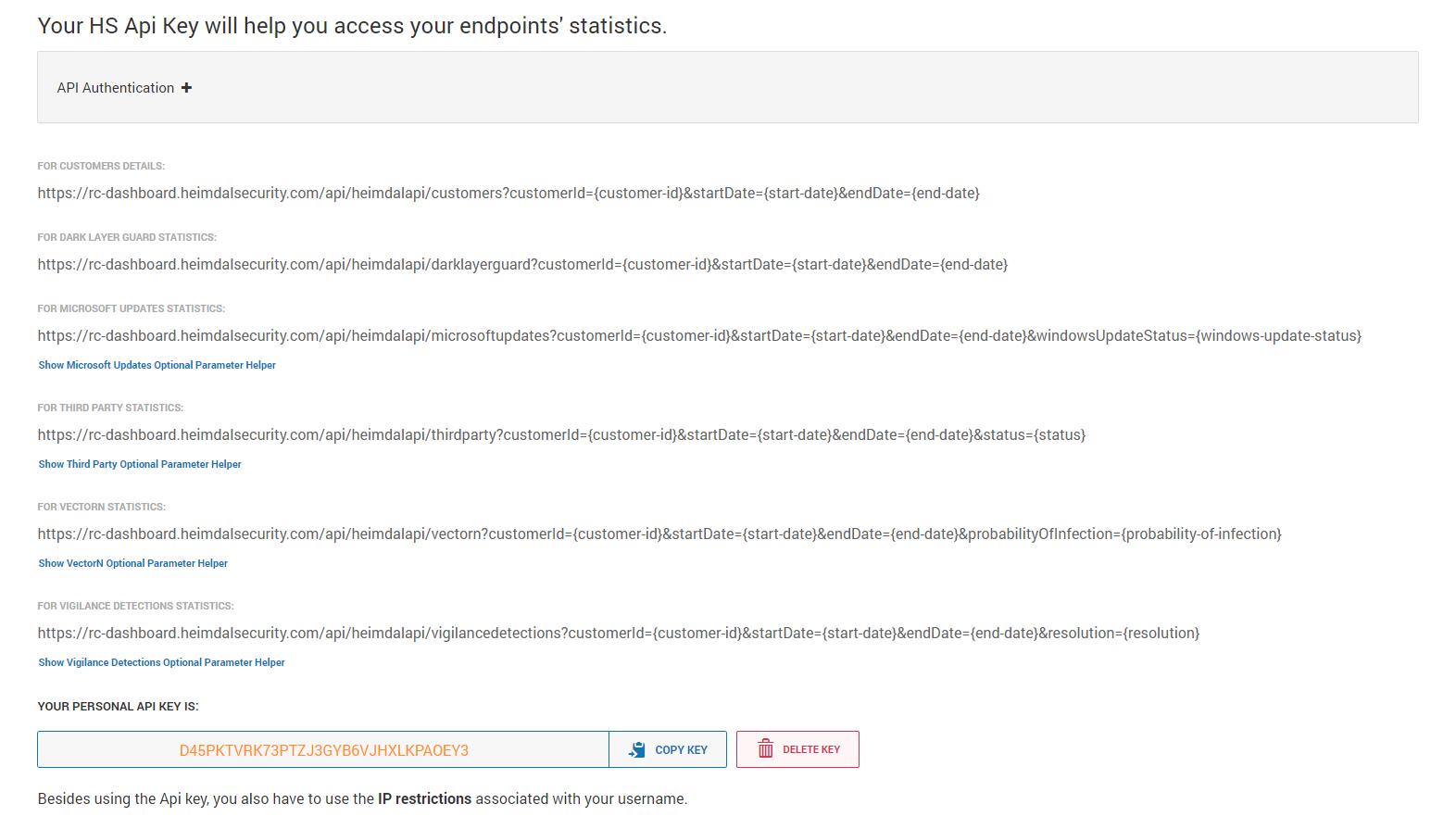 Heimdal Security API Key – Heimdal Security